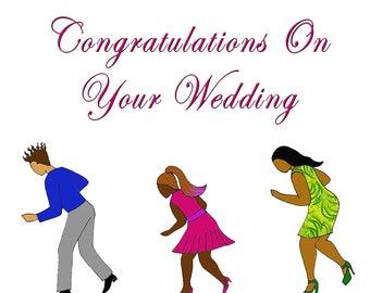 Wedding Card Electric Slide