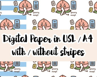 Peachie Paying the Bills Printable Paper   Digital Paper   Printable Vellum   Planner Accessories, TN Printable   Planner Dashboard