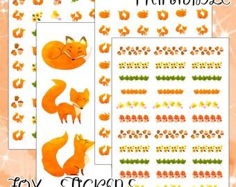 Fox Planner Stickers   Kikki K   Filofax   Happy Planner   Erin Condren