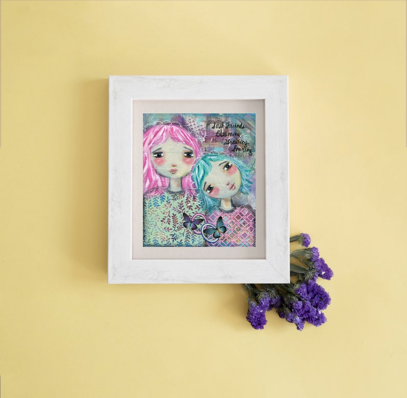 Soul Sisters Best Friend Gift Spiritual Gift Whimsical image 1
