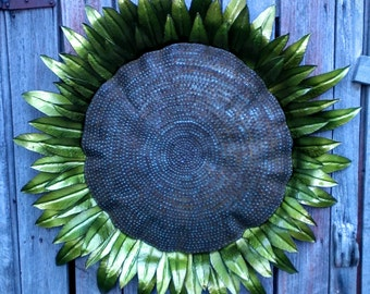 Harvest Sunflower Sculpture Designed And Made By David Blakeman