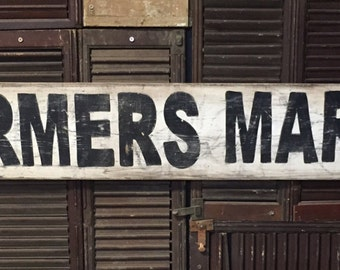 "7"" x 48""  Farmers Market Vintage style sign"