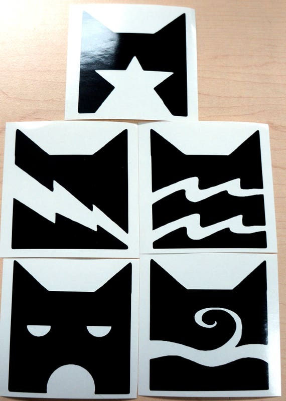 Warrior Cats Vinyl Decal Emblem Thunderclan Riverclan Etsy