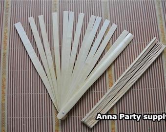 1 piece bamboo fan 13pcs staves per fan