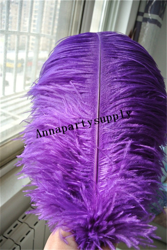 Pcs purple ostrich feather plume for wedding party