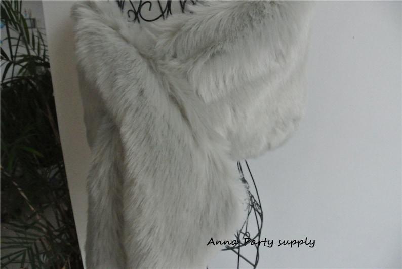 a6e9a539a1378 Light gray faux fur shrug bridal wrap shrug wedding faux fur cape stole  Wedding Fur warp Bridal Faux Fur Stole Fur Shawl Cape