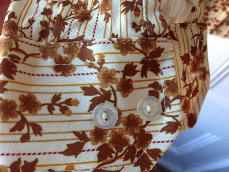 Plus size vintage button down oxford floral top