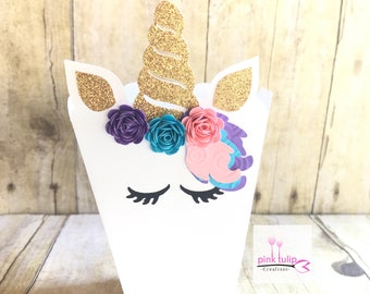 Unicorn Favor Popcorn boxes, favor box, popcorn box, unicorn party, treat box, unicorn birthday