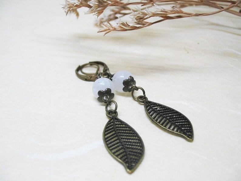 Rainbow Moonstone Earrings Gemstone Earrings Vintage Earrings Dangle Earrings Fertility Jewelry Moonstone Jewelry Romantic Earrings