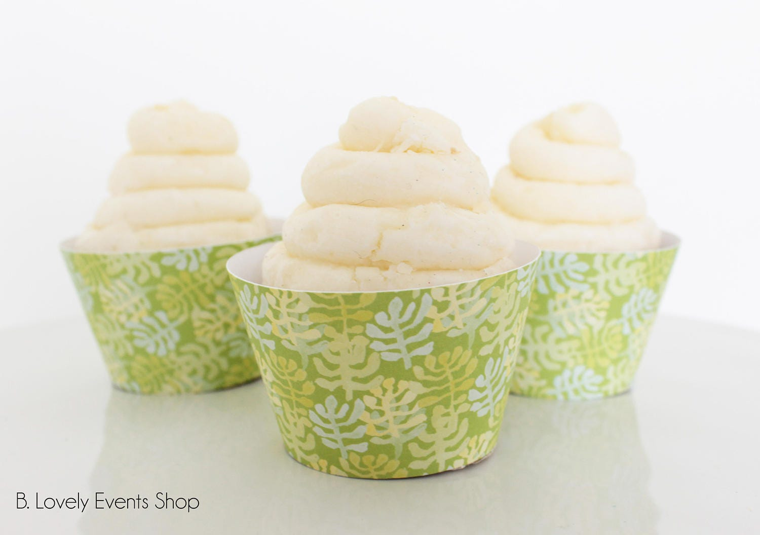 Palm Leaf Cupcake Wrappers Palm Leaf Party Tropical Party   Etsy