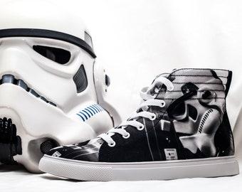 Elevator Storm Women's High Top Sneakers - Star Wars Inspired Stormtrooper Skater Shoes
