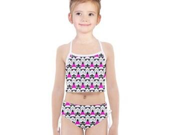 4972a8386f0 Girls Hot Pink Background Stormtrooper Helmet Tankini Swimsuit Set - Star  Wars Inspired Kids' Bathing Suit - Children's Fashion Swimwear