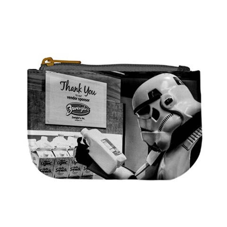 2 Sizes TK Shopping Trip Zippered Coin Purse 501st Imperial Stormtrooper Star Wars Inspired Change Purse Pouch Geek Fashion Accessories