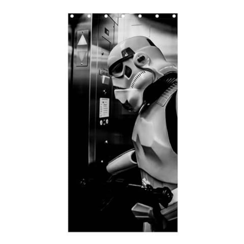 Elevator Storm Shower Curtain Star Wars Inspired Stormtrooper