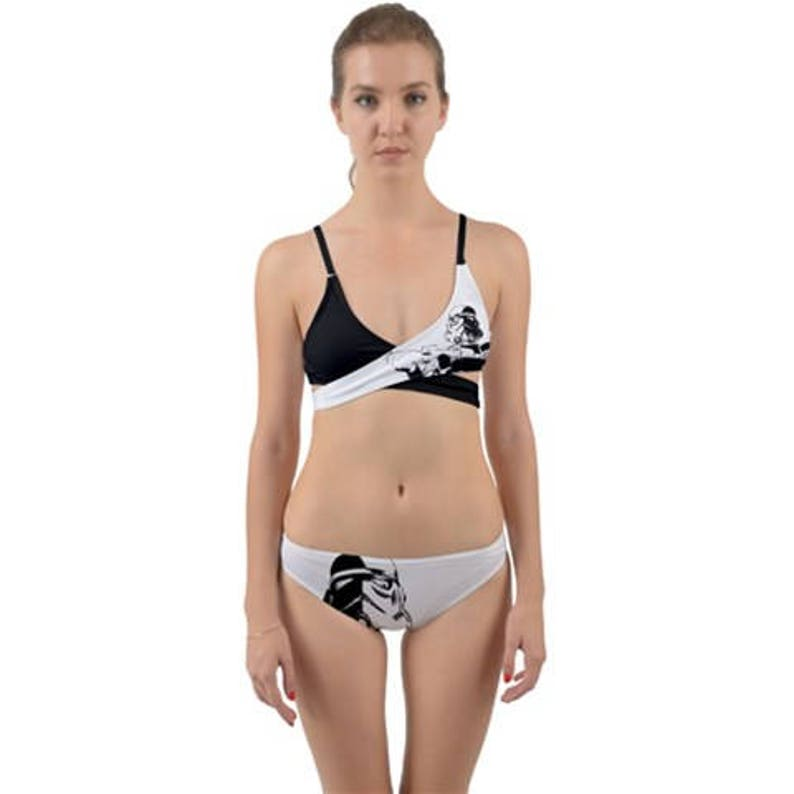 68fffd5993 Black   White Stormtrooper Wrap-Around Bikini 2 Piece
