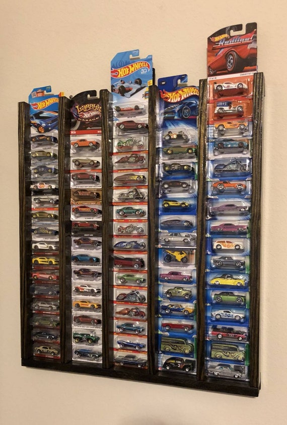 """10/""""x27/"""" 28 Car Hot Wheels Matchbox In-Package Collectors Display Shelf"""