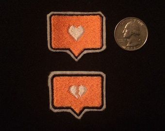 Mini Instagram Heart Patch - Your Choice of One Embroidered Iron-on Patch
