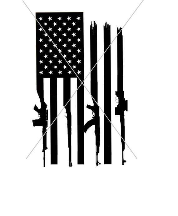 Gun Flag American Flag Rifle Flag Svg Png File Etsy