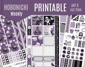 Gothic life Hobonichi Weeks Weekly Printable Planner Stickers - Hobonichi Planner Stickers, Weekly Printable Stickers, Journal  - Cut file
