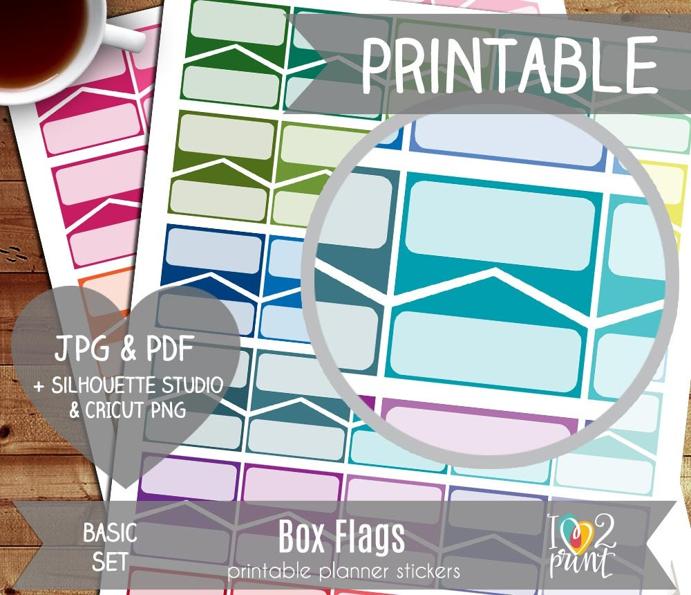 box flags printable planner stickers erin condren planner | etsy