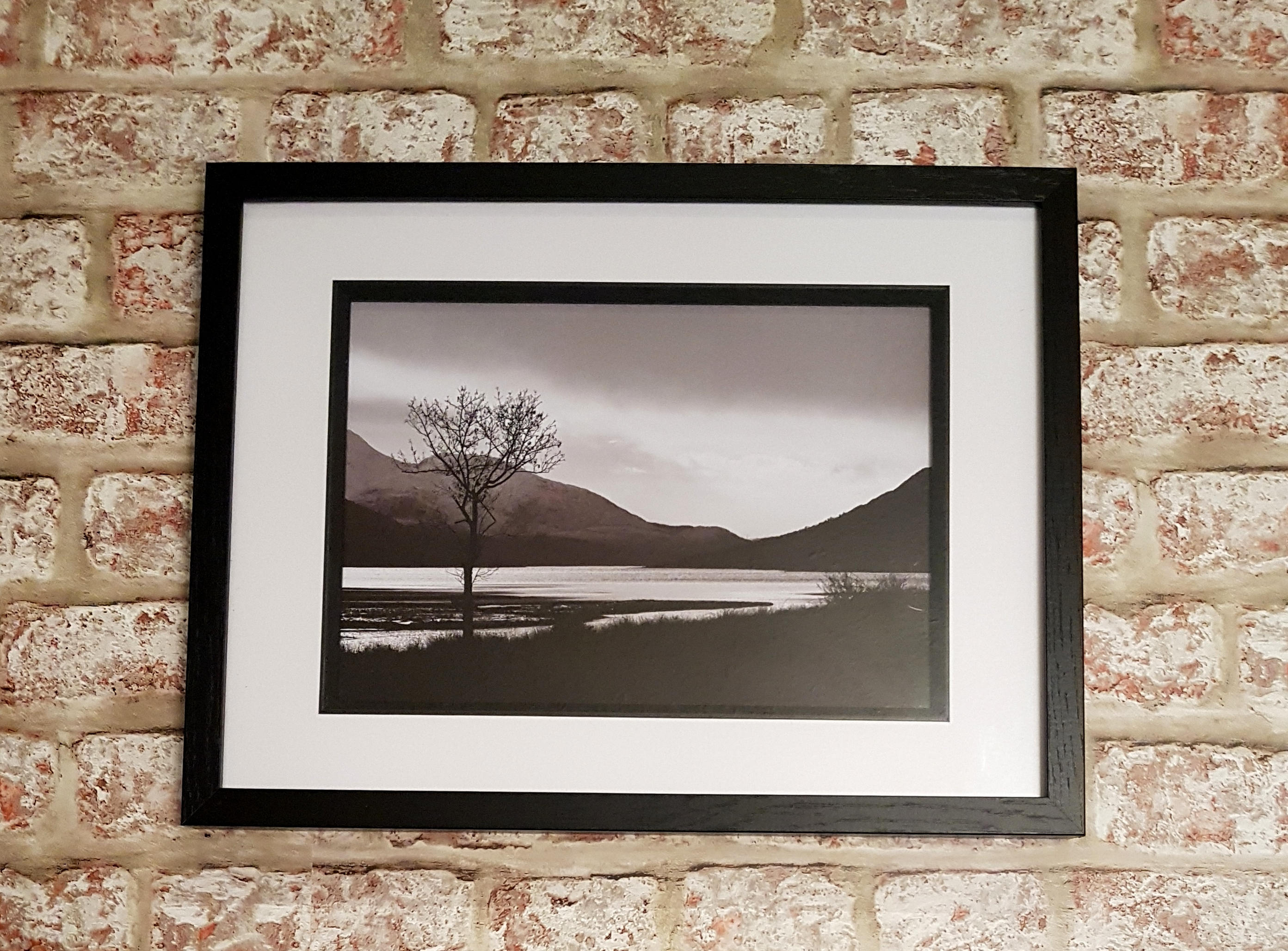 Loch Etive, Scottish Loch view, Glen Etive View, Banks Of Loch Eitve, A4 A3  Framed Print
