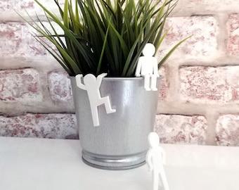 Stick Men figures, 3D printed Stick Men, fun desk ornaments, 3 stick men, Stick men Office Decor