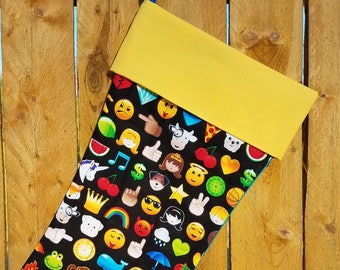 Emoji Quilted Christmas Stocking