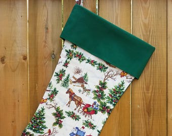 Country Christmas Quilted Christmas Stocking