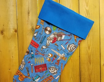 Handyman Quilted Christmas Stocking