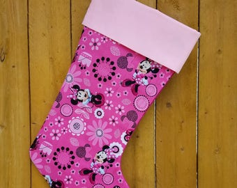 Minnie Mouse Disney Quilted Christmas Stocking