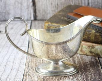 Vintage Silver Plate Sauce Boat, Silver Jug