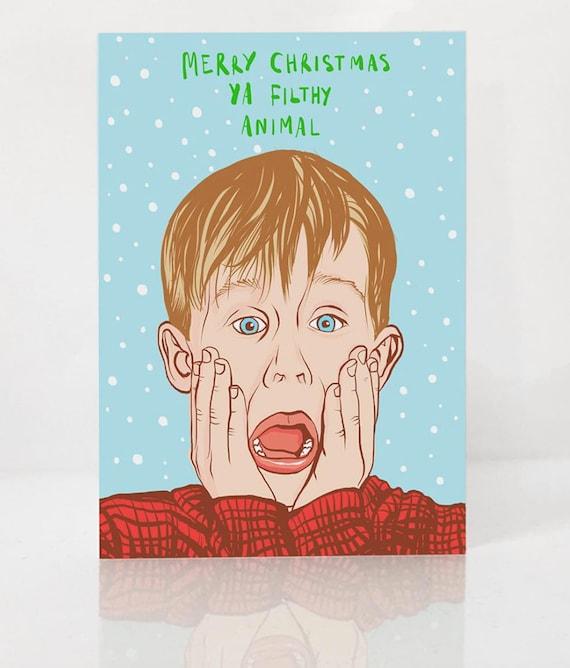 Home Alone Themed Christmas Card A6 Christmas Card Macaulay Culkin Card