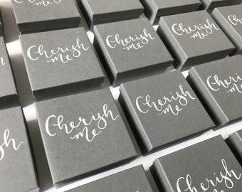 Gift box -  personalised / favour box / jewellery gift box / small box / christmas gift box