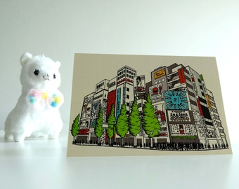 Card Akihabara / Illustration / Japanese cardcollection / Electric Town / Maidcafes Games Anime / Tokyo Japan / Blank A6 card