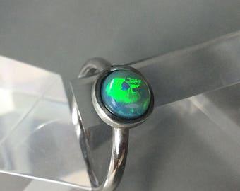 Australian opal ring US 6 3/4