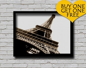 Cross Stitch Pattern Eiffel Tower Paris France Europe Decor Embroidery Monument xstitch Downloadable Counted Cross Stitch Chart