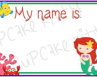 rapunzel name tags adhesive tangled princess birthday etsy