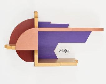 Solid Wood Bedside Shelf – Suspended Nightstand – Floating shelves for Bedroom – Bedroom Decor – Artistic – Original Design by CristherArt