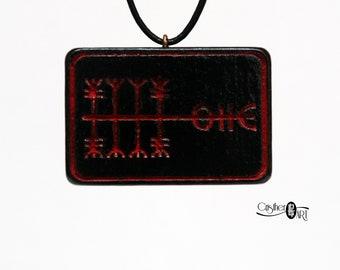 Kaupaloki  Pendant - Deal closer Rune - Icelandic Stave Jewelry - Norse Viking Magic Talisman Necklace - Wealth Mystic Symbol - Runic Sigils
