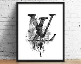 louis vuitton logo etsy