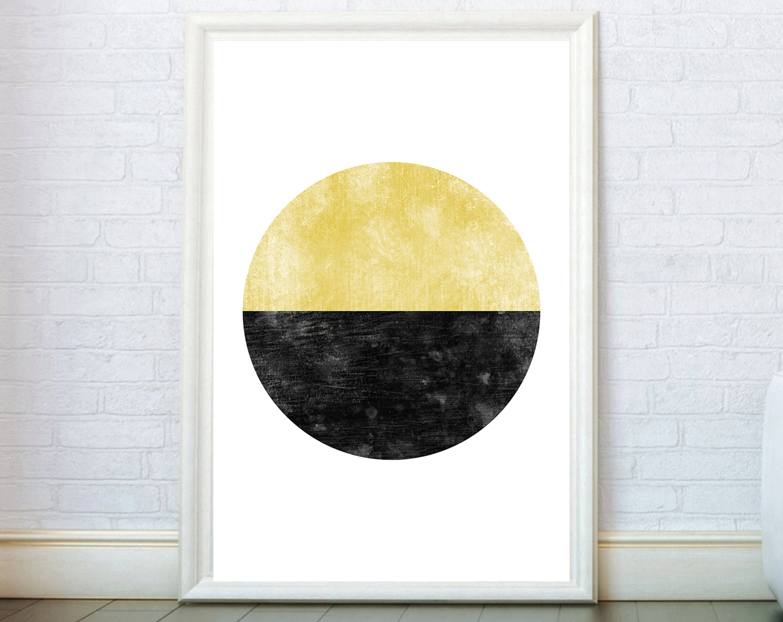 Circle Painting Abstract Print. Geometric Graphic Design Loft   Etsy