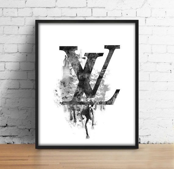 Louis Vuitton Watercolor Sign Louis Vuitton Symbol Lv Digital Etsy
