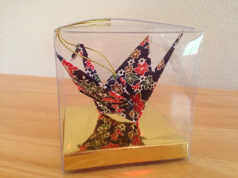 Handmade Origami Paper Crane Christmas Tree Ornament