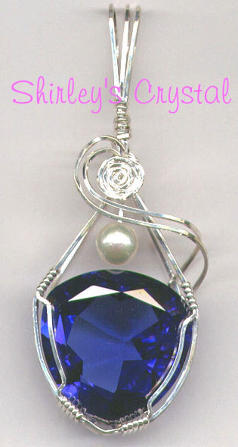 Handmade Sterling Silver Wire Wrapped Trilliant Tanzanite image 0