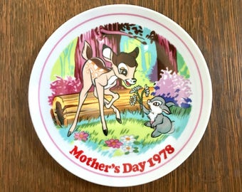 Vintage Disney Collector Plate / Mother's Day 1978 / Mother's Day Collector Plate / Disney Collector Plate / Disney Bambi Collector Plate