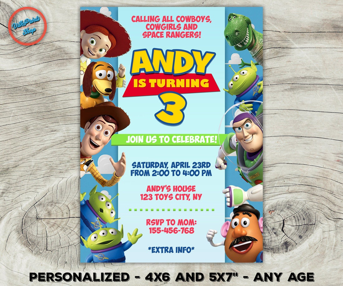 Colorful Woody Party Invitations Gift - Invitations Example ...