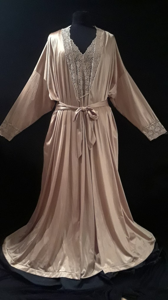 Vanity Fair Nightgown & Robe~ L/XL~*SPECTACULAR Se