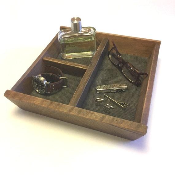 Captain Valet Tray Wood Valet Wooden Caddy Dresser  7271c046c3365