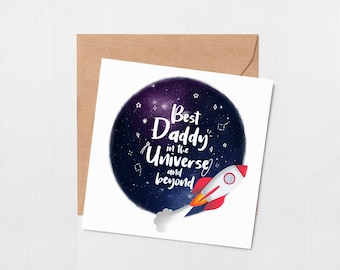 Dad you mean the world to me - Greeting card - Happy birthday - dads birthday - best daddy birthday card - fathers day - blank inside card