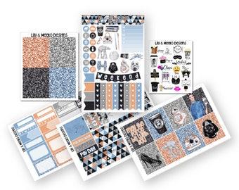 Star Wars   Mini Planner Sticker Kit   for use in erin condren vertical life planner